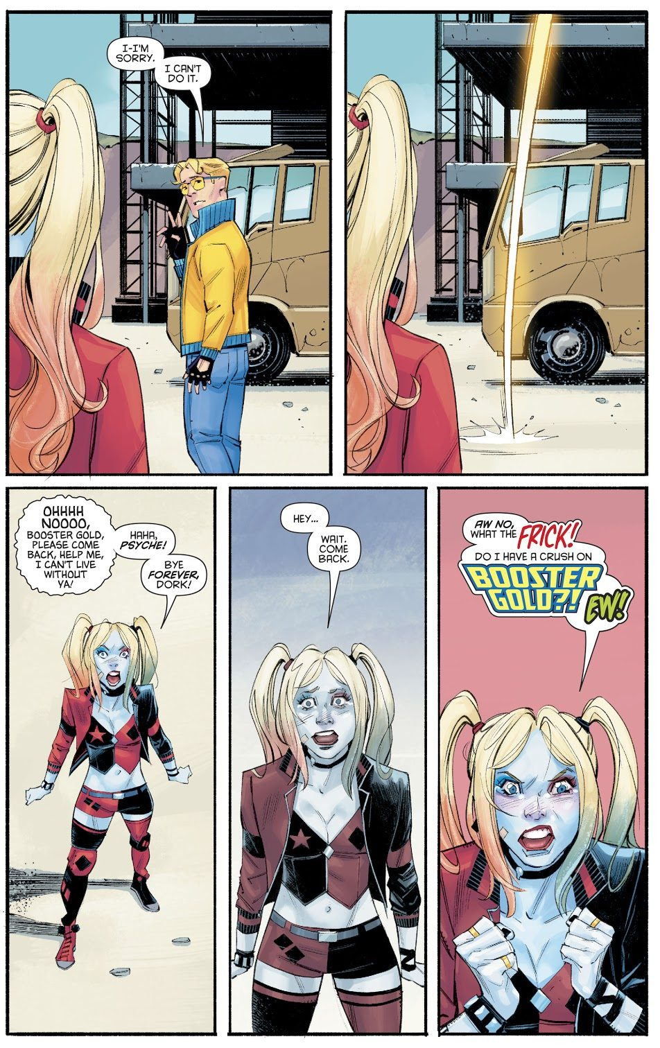 Harley Quinn Has A Crush On Booster Gold