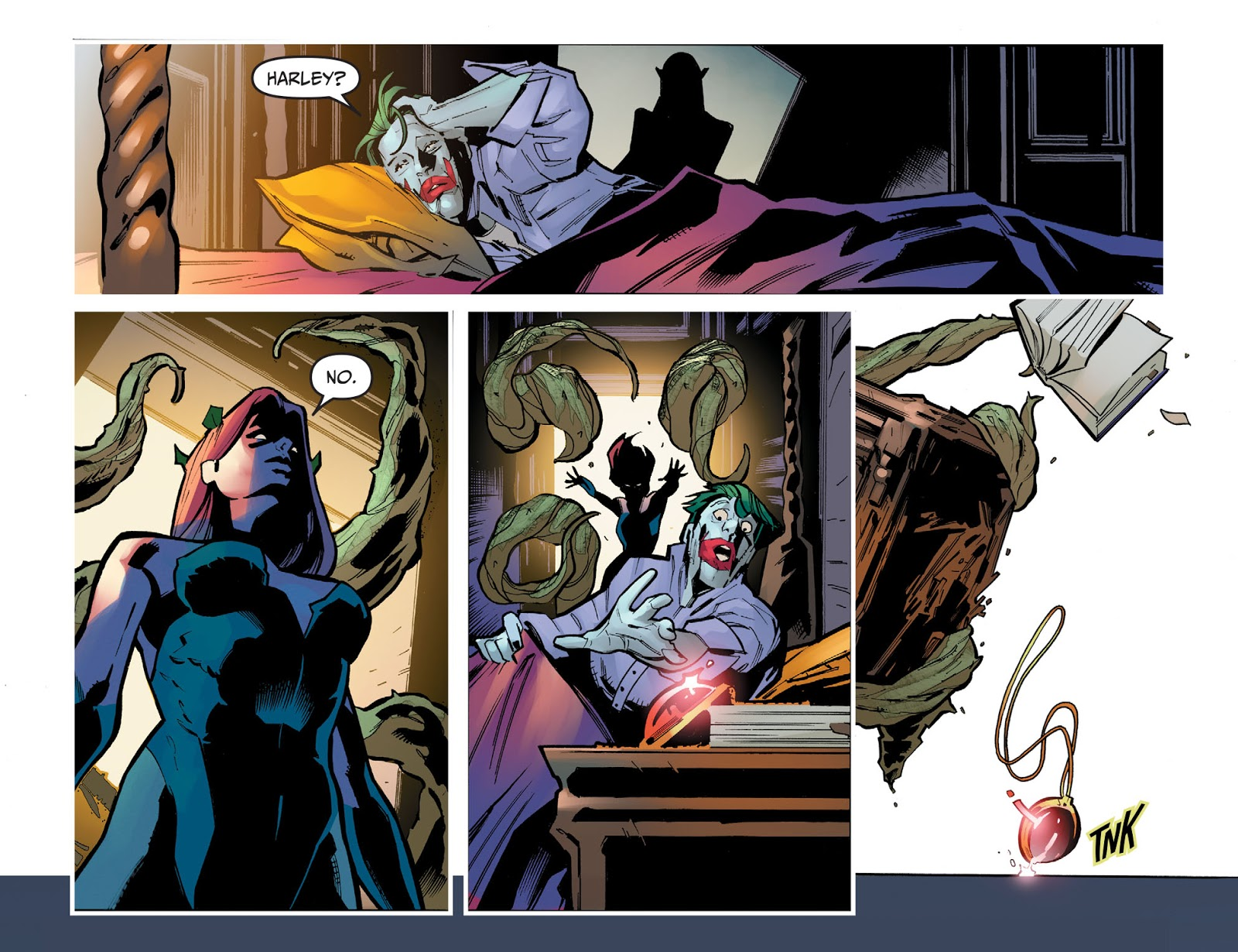 Poison Ivy Threatens The Joker (Injustice Gods Among Us) Poison Ivy Threatens The Joker (Injustice Gods Among Us)