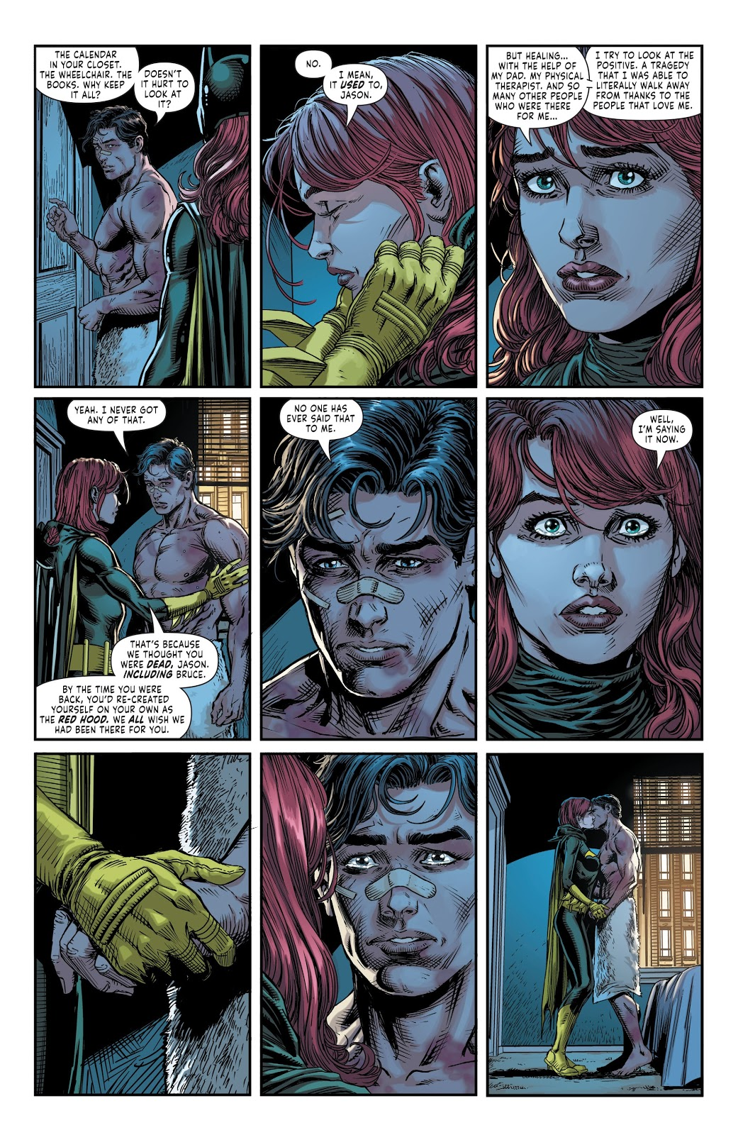 Red Hood And Batgirl Kiss