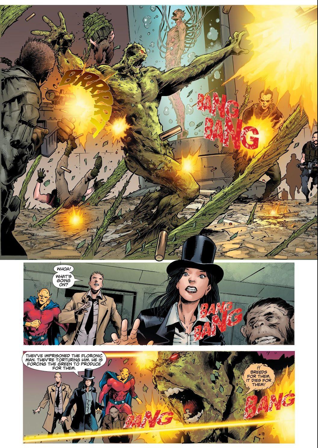 Swamp Thing Kills Maxwell Lord (DCeased)