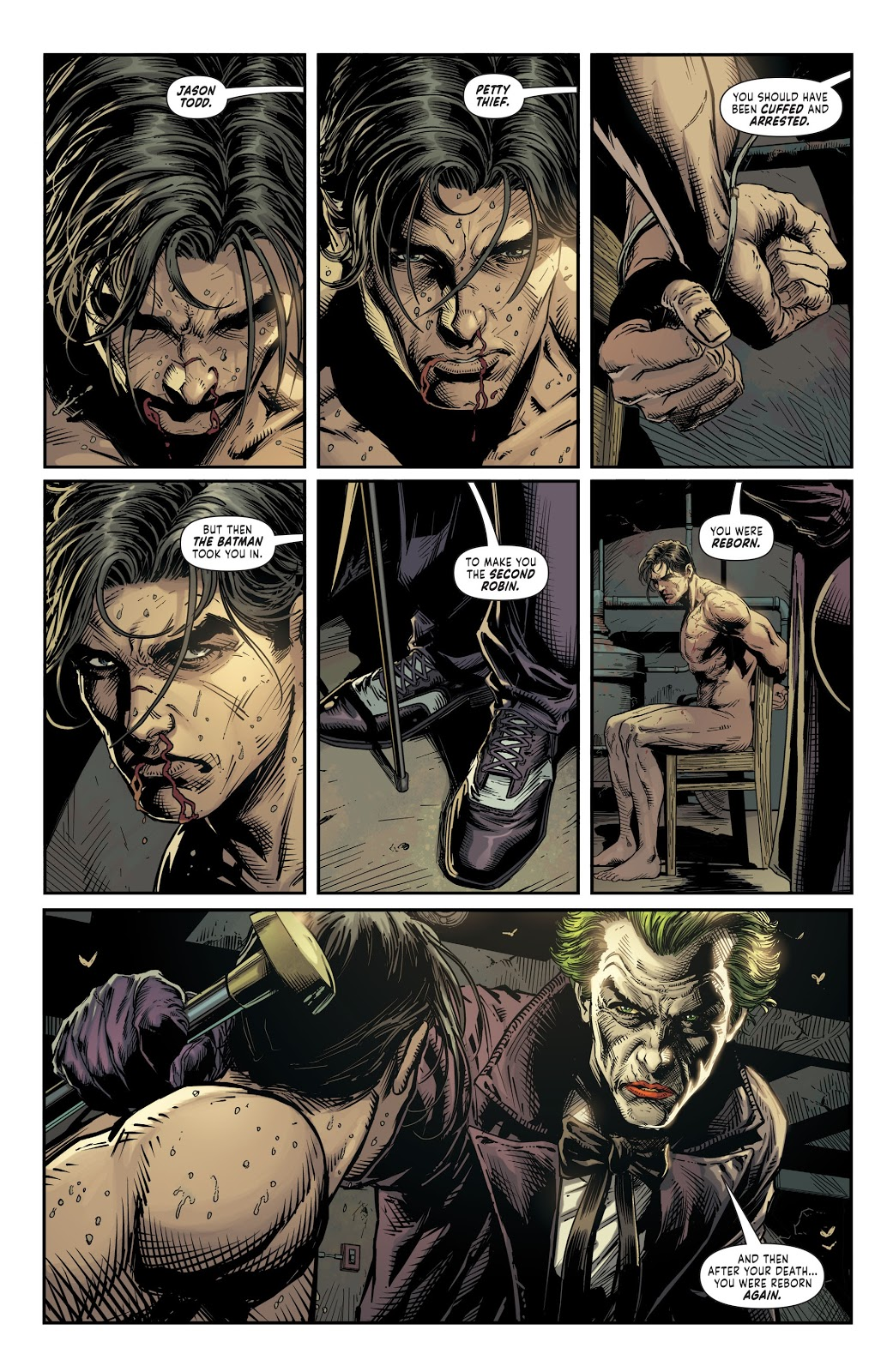The Two Jokers Torture Red Hood