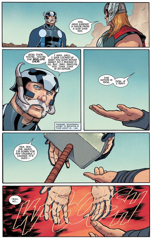 Iron Man Hits Thor With Mjolnir