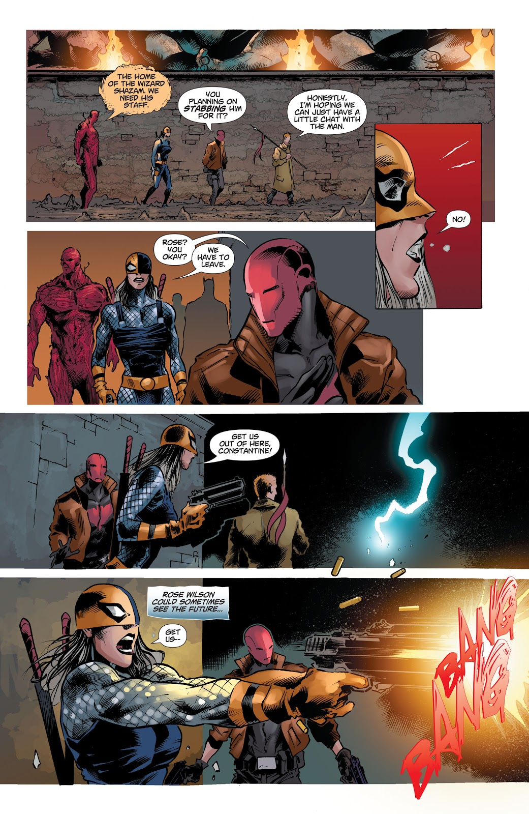 Captain Marvel JR Kills Red Hood (Dceased)