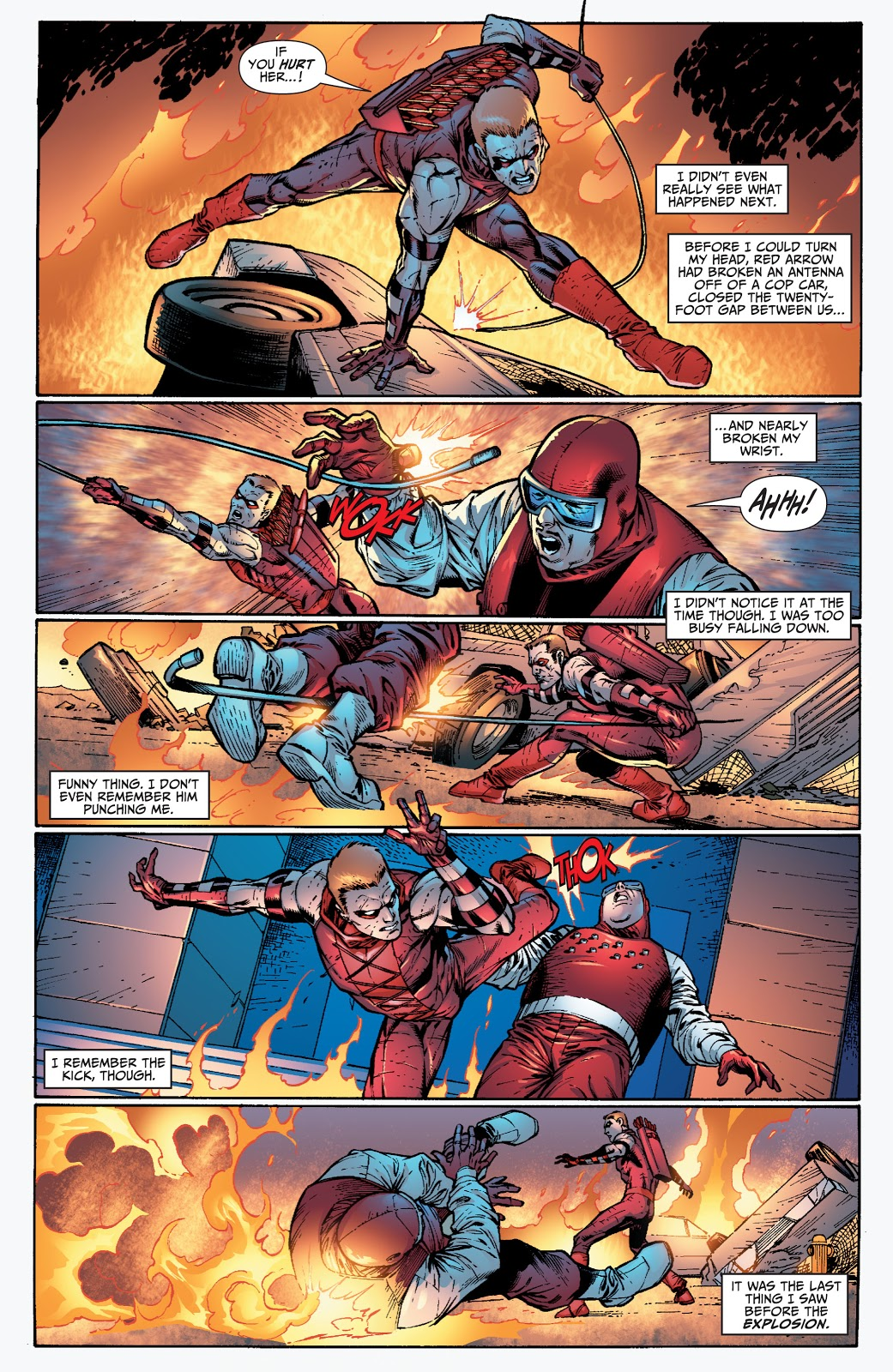 Red Arrow And Hawkgirl VS The Human Flame