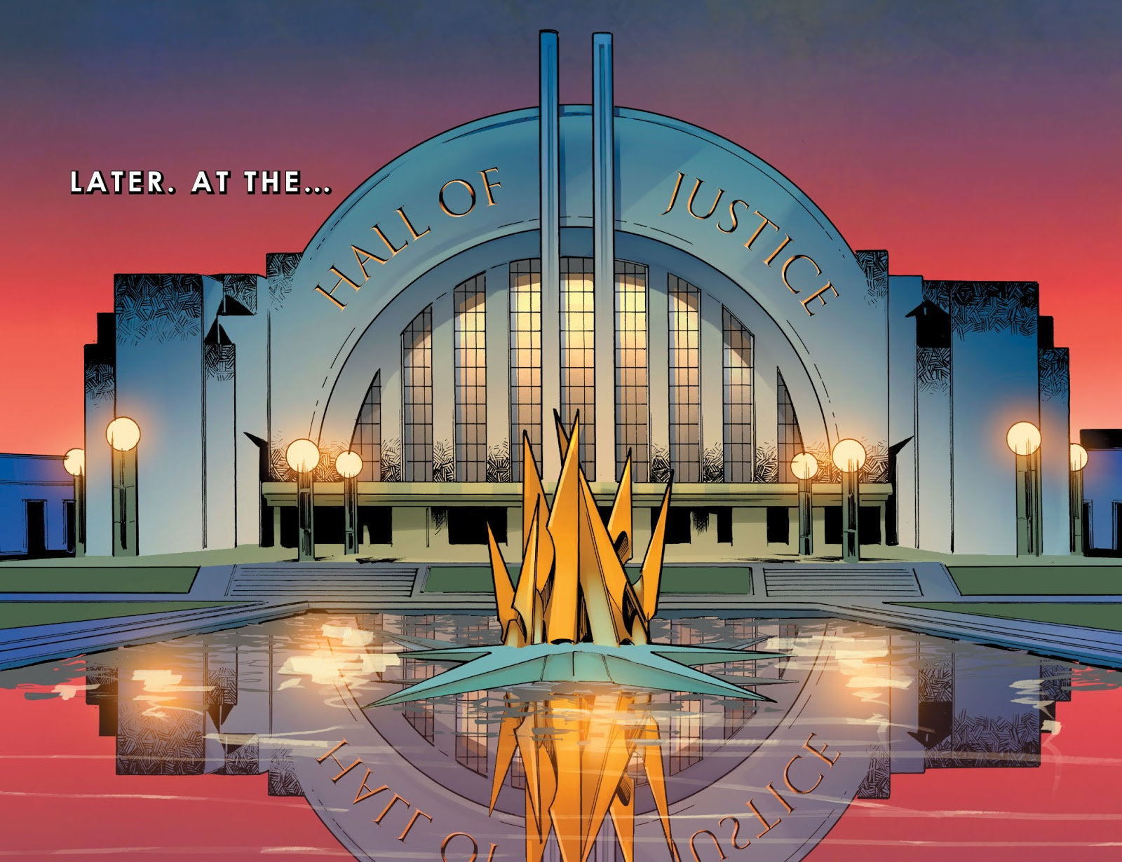 Hall Of Justice ( Injustice Gods Among Us Year 0 #12)