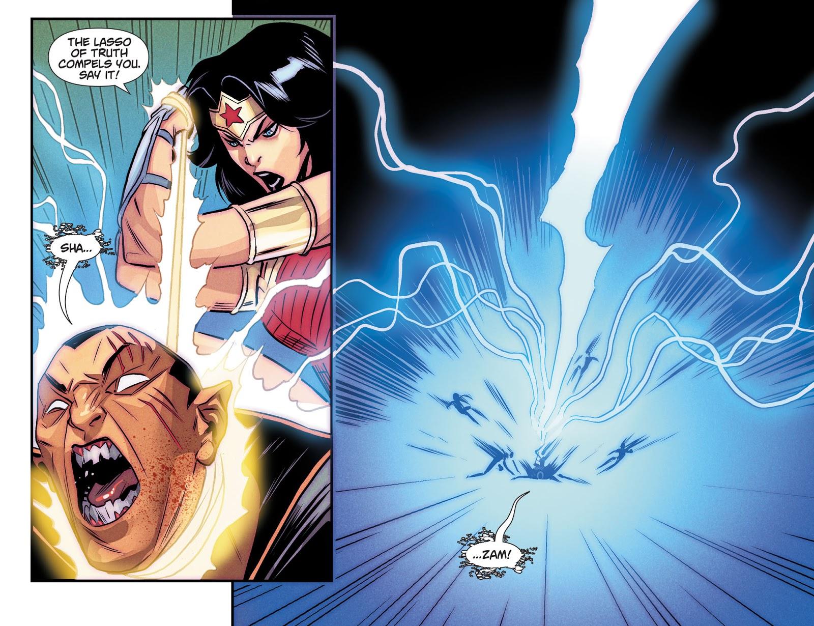 Superman, Wonder Girl, Green Lantern VS Zombie Black Adam (Dceased)