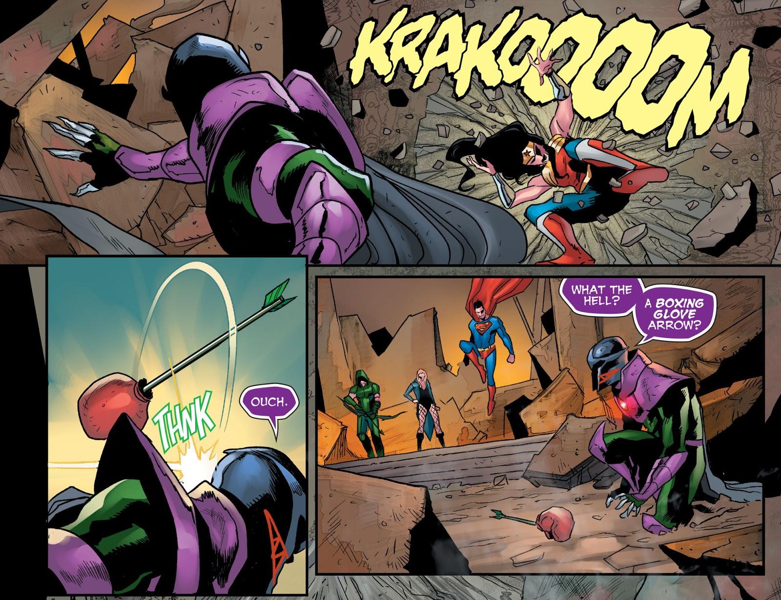 The Joker Appreciates The Boxing Glove Arrow