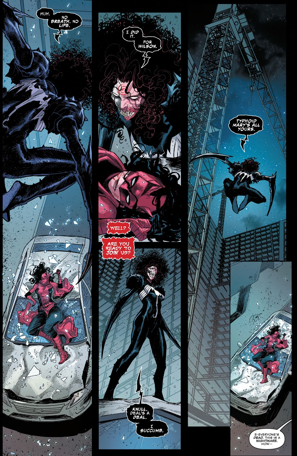 Daredevil (Elektra) VS Symbiote Typhoid Mary