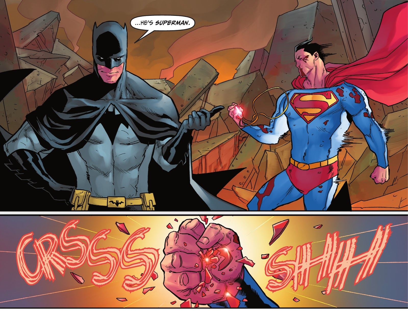 Superman Fights Off Mind Control (Injustice Gods Among Us)