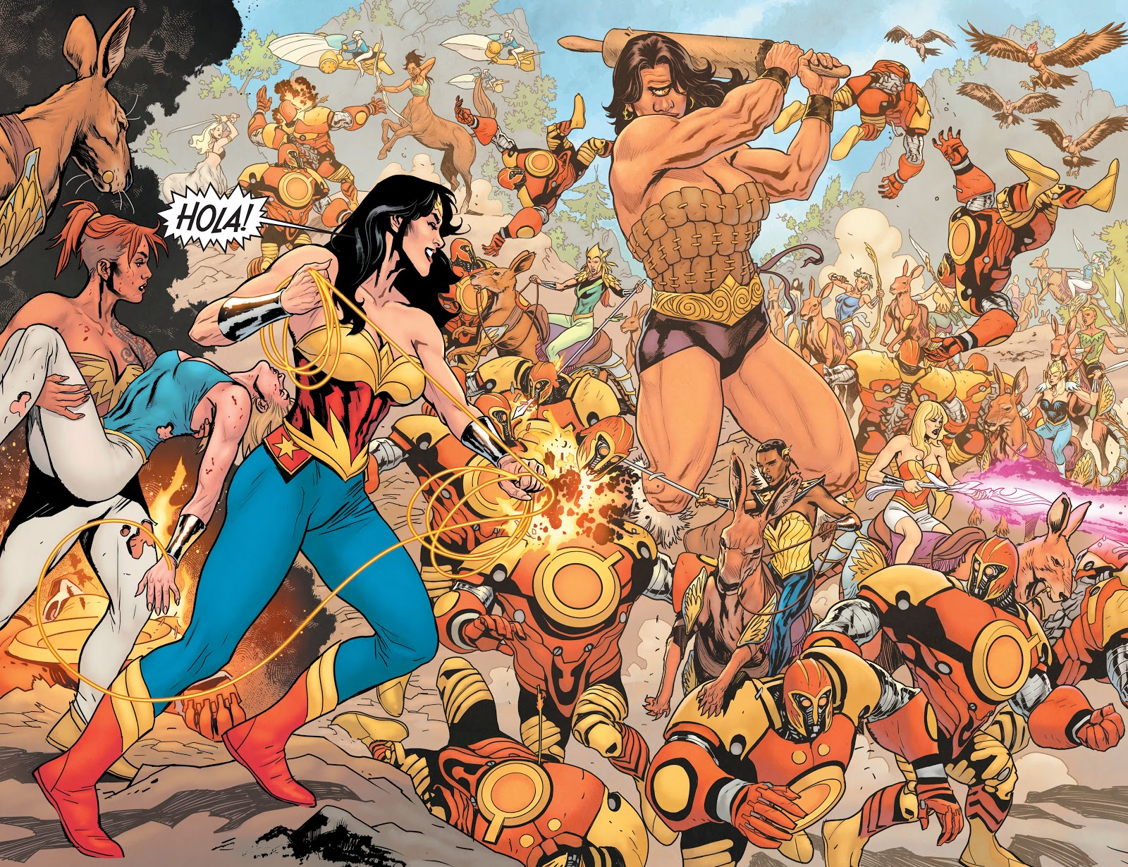 Ares Attacks Amazonia (Earth One)