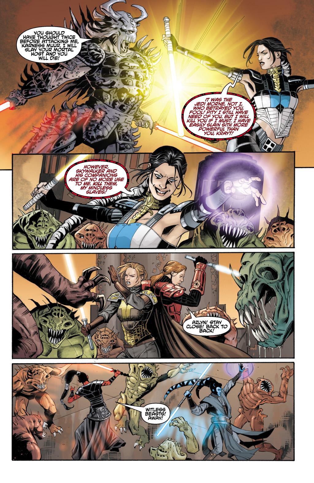 Celeste Morne Defeats Darth Krayt
