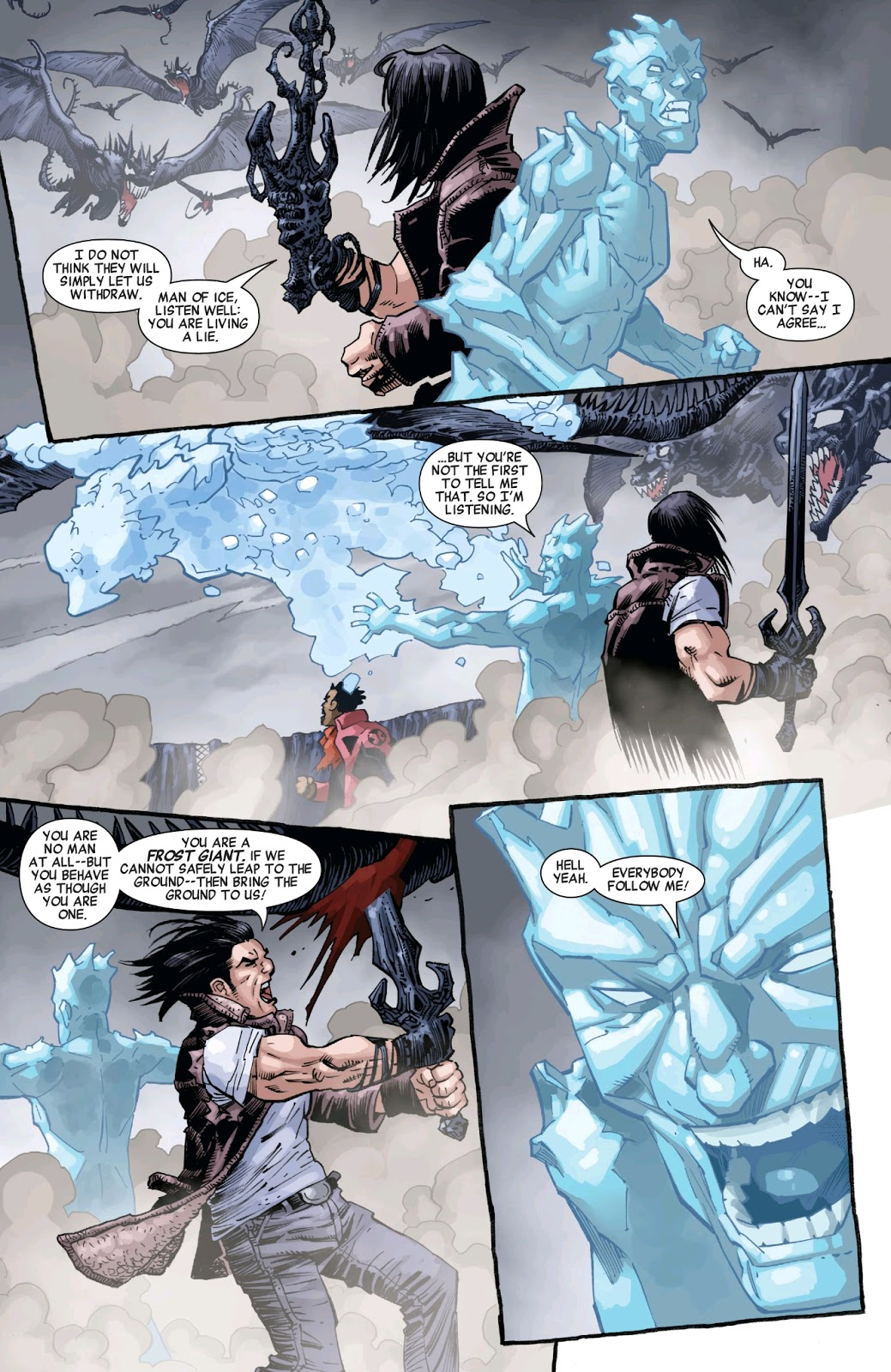 Conan The Barbarian Gives Iceman A Pep Talk