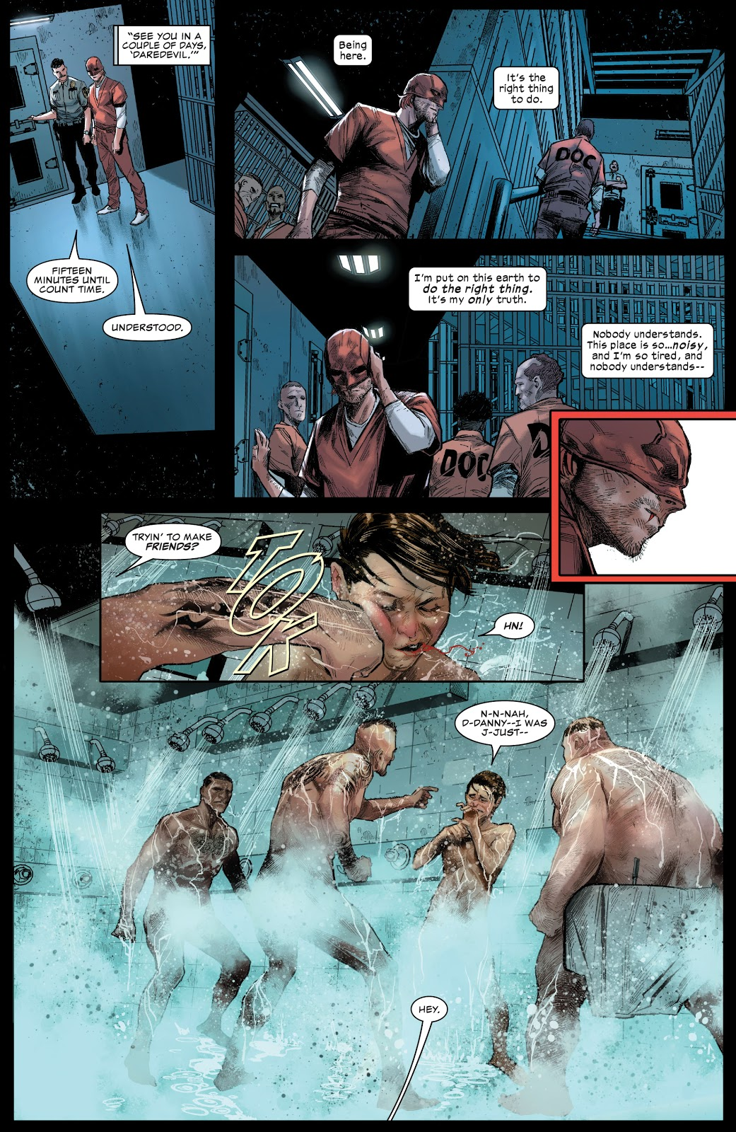 Daredevil In Prison Shower