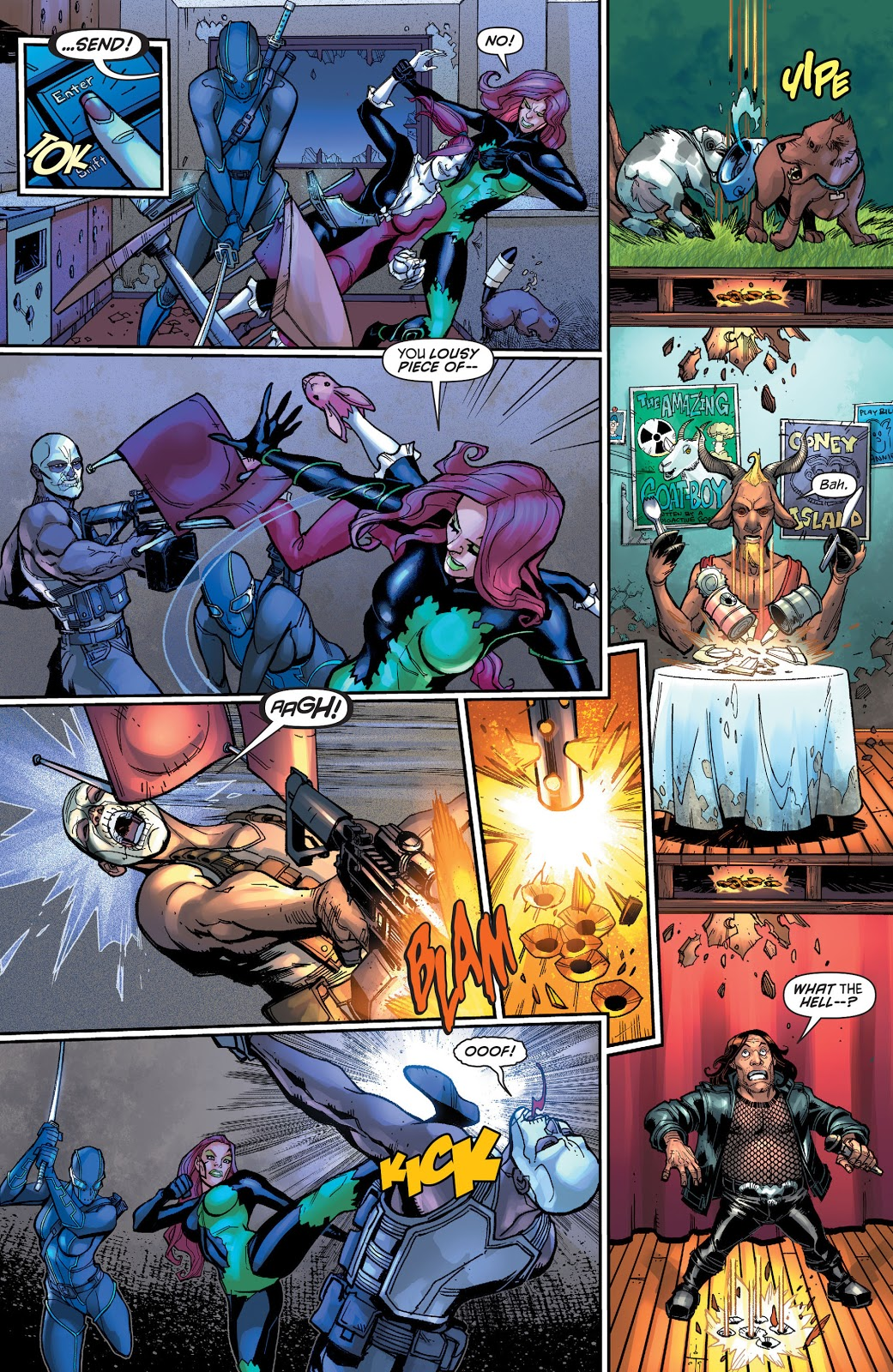 Harley Quinn And Poison Ivy VS Bounty Hunters