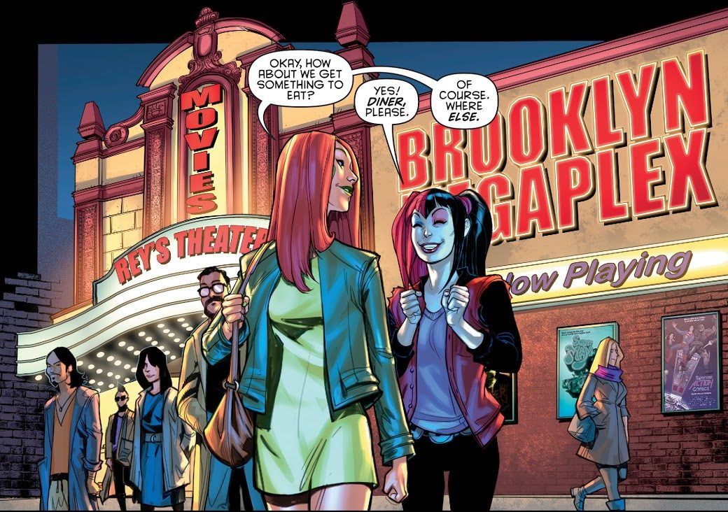 Harley Quinn And Poison Ivy Watching A Movie