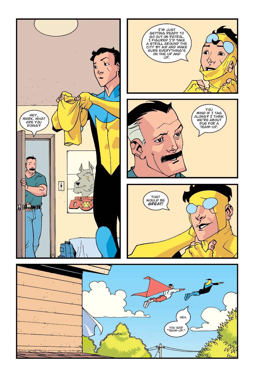 Invincible And Omni-Man First Team Up