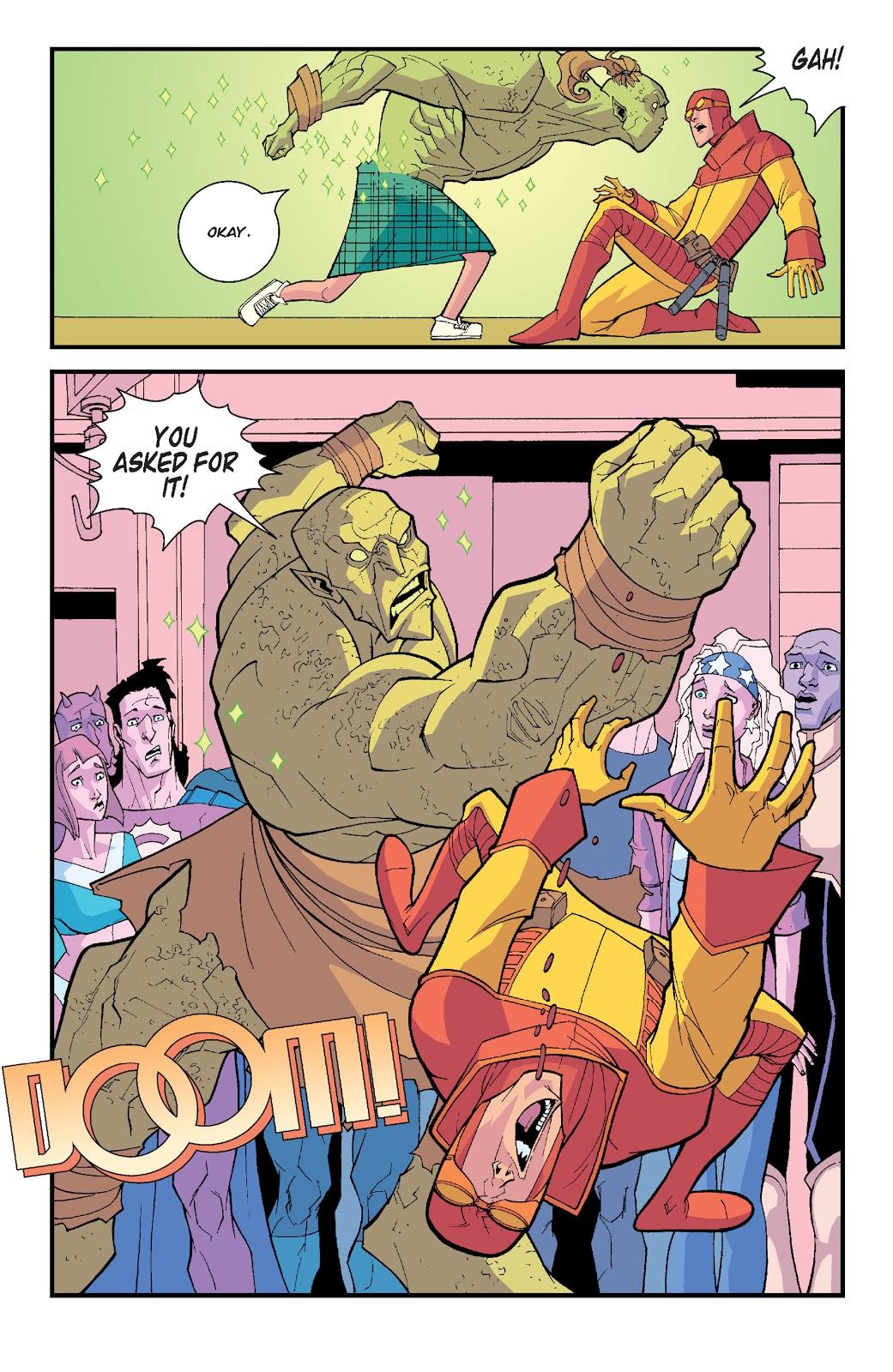 Monster Girl Kicks Rex Splode's Ass