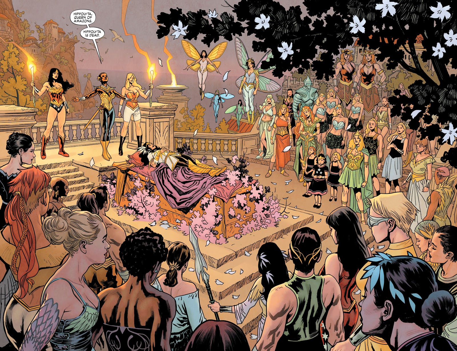 Queen Hippolyta's Funeral (Earth 1)