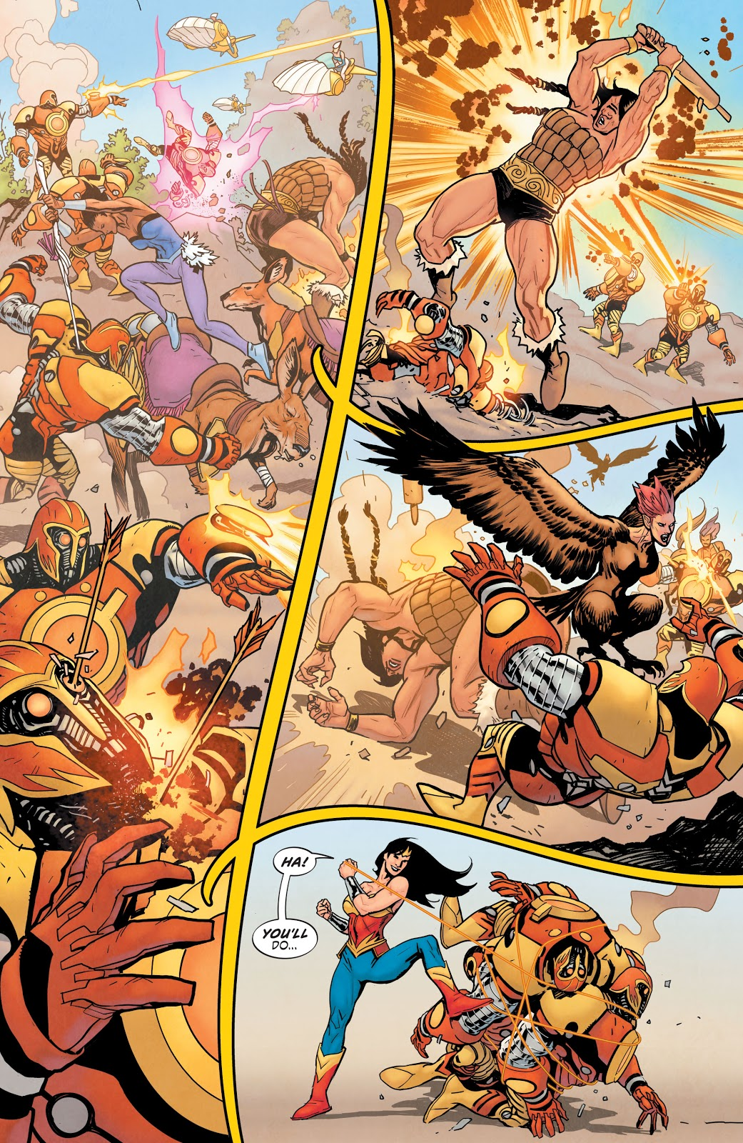 Wonder Woman VS ARES Mark 1 (Earth One)