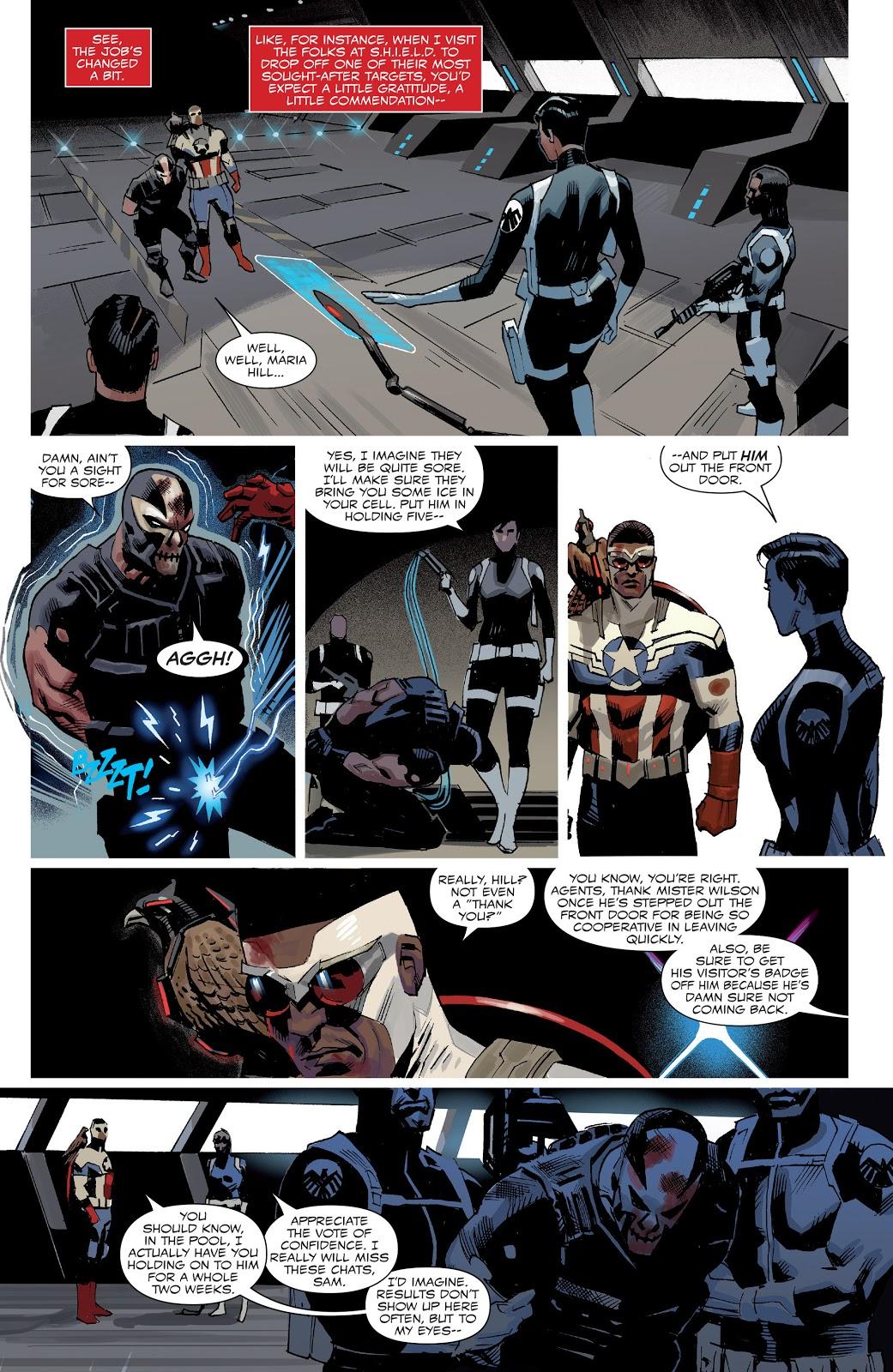 Captain America Sam Wilson Defeats Crossbones
