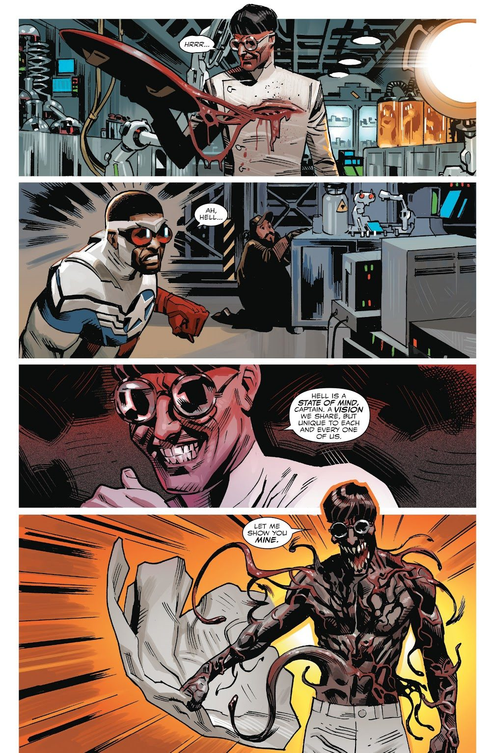 Captain America Sam Wilson Is Turned Into A Wolf