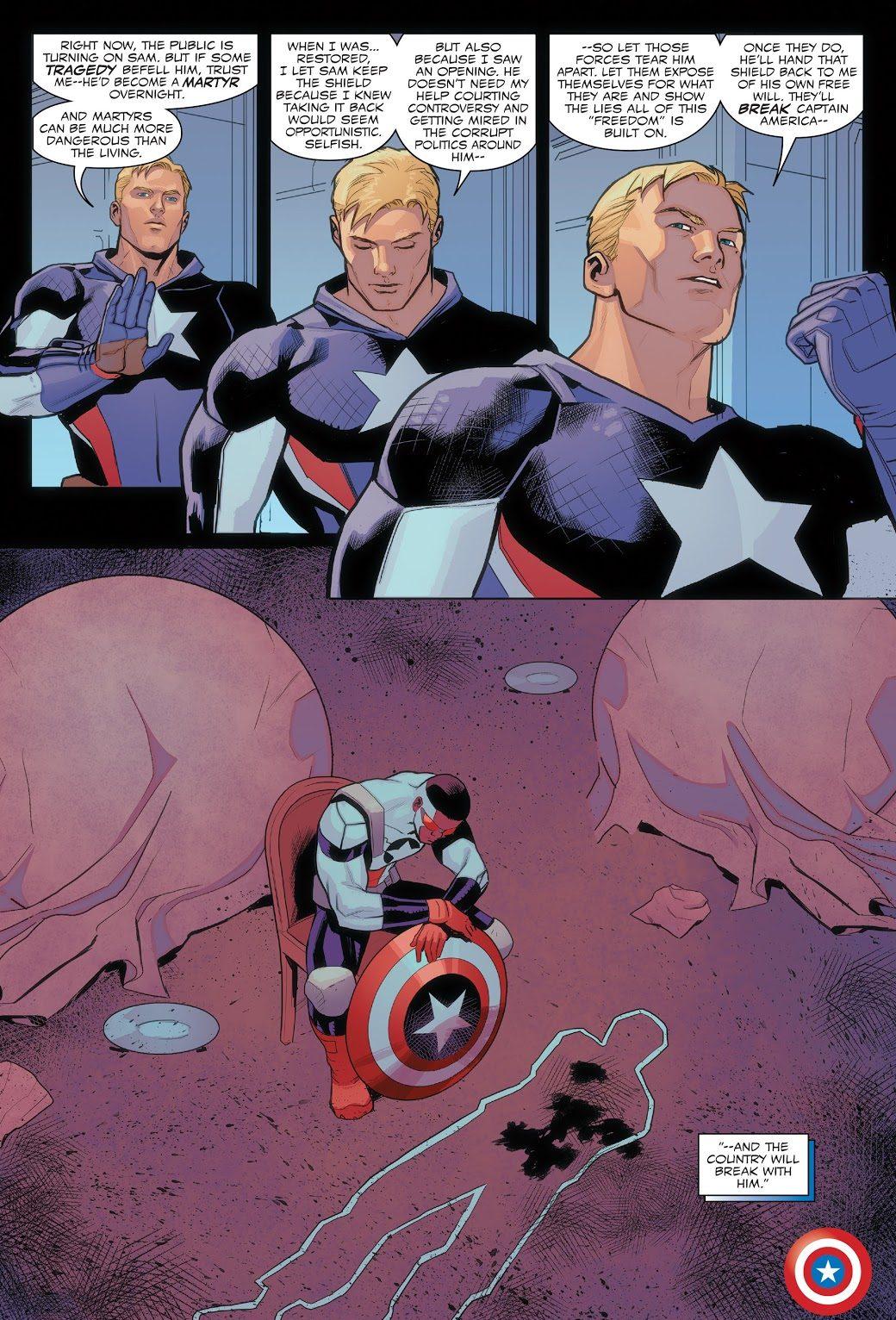 Captain America Sam Wilson Misses His Shield Throw