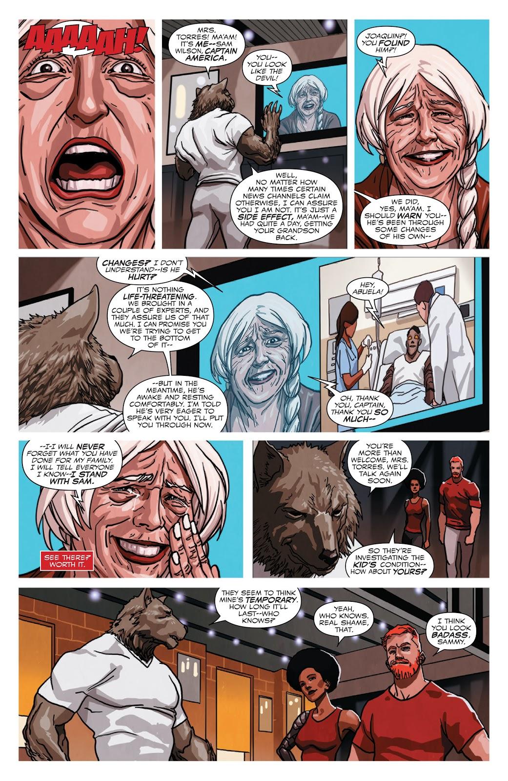 Captain America Sam Wilson Rescues Joaquin Torres