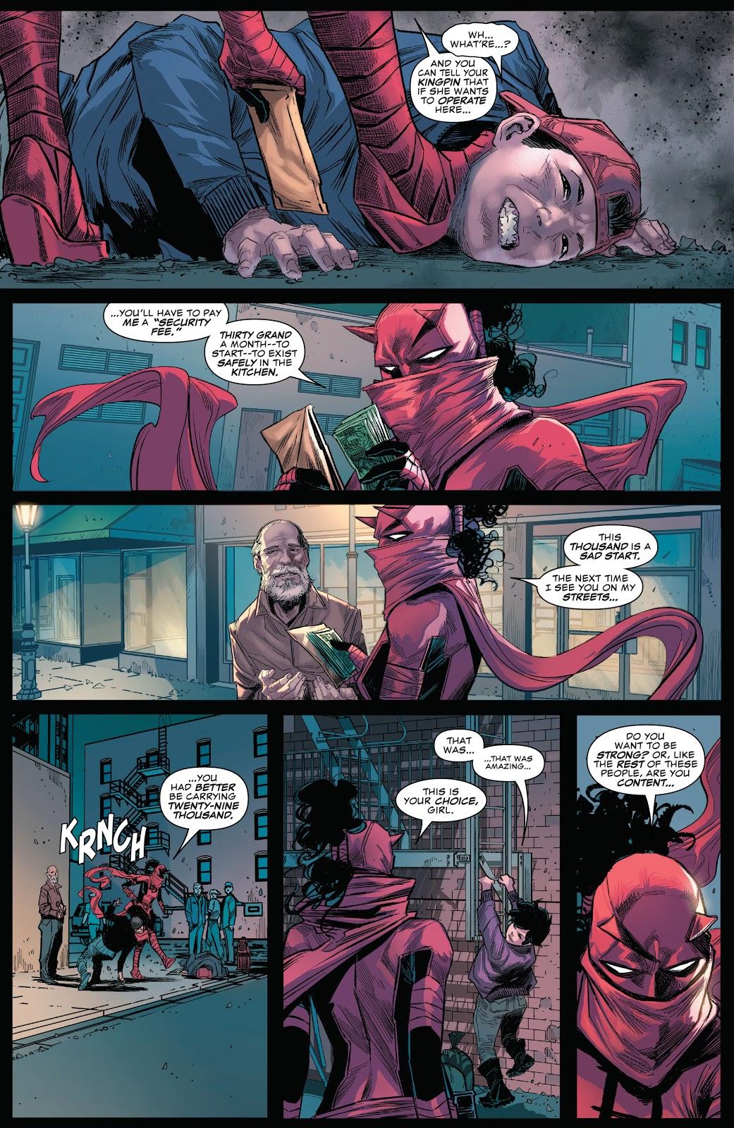 Daredevil (Elektra) Makes Hell's Kitchen Her Territory