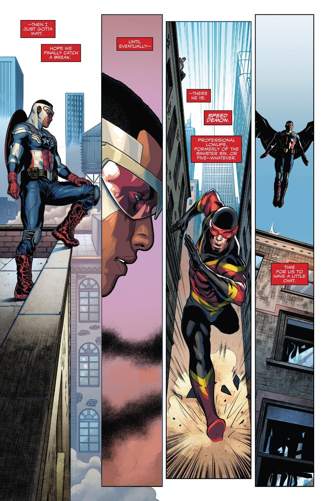 How Captain America Sam Wilson Caught A Speedster