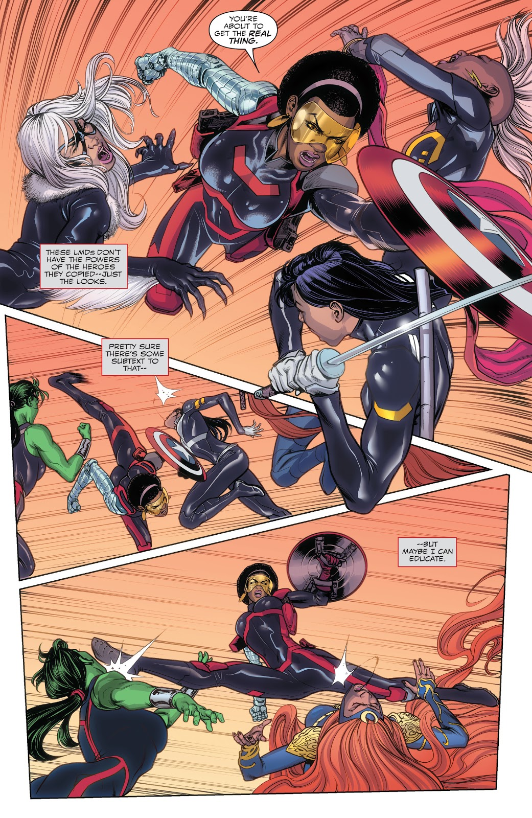 Misty Knight Uses Captain America's Shield