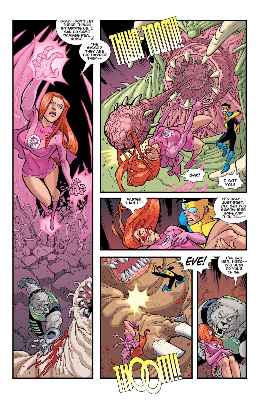 Invincible And Atom Eve VS Doc Seismic