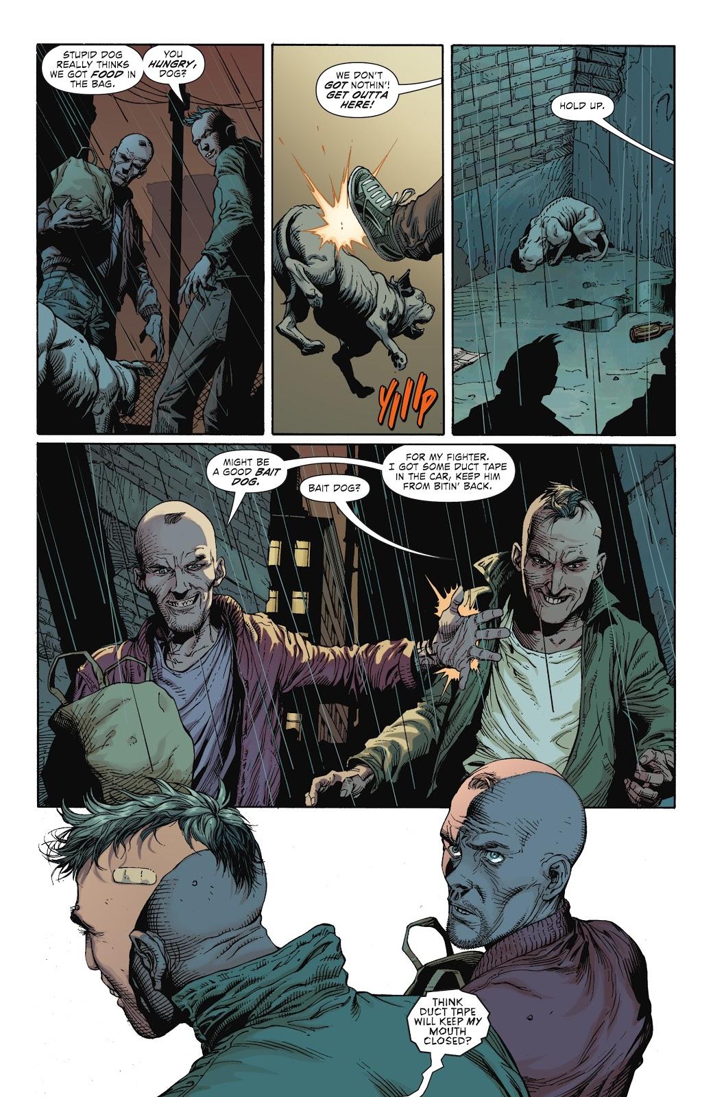 Killer Kroc Saves Bat-Dog (Earth 1)
