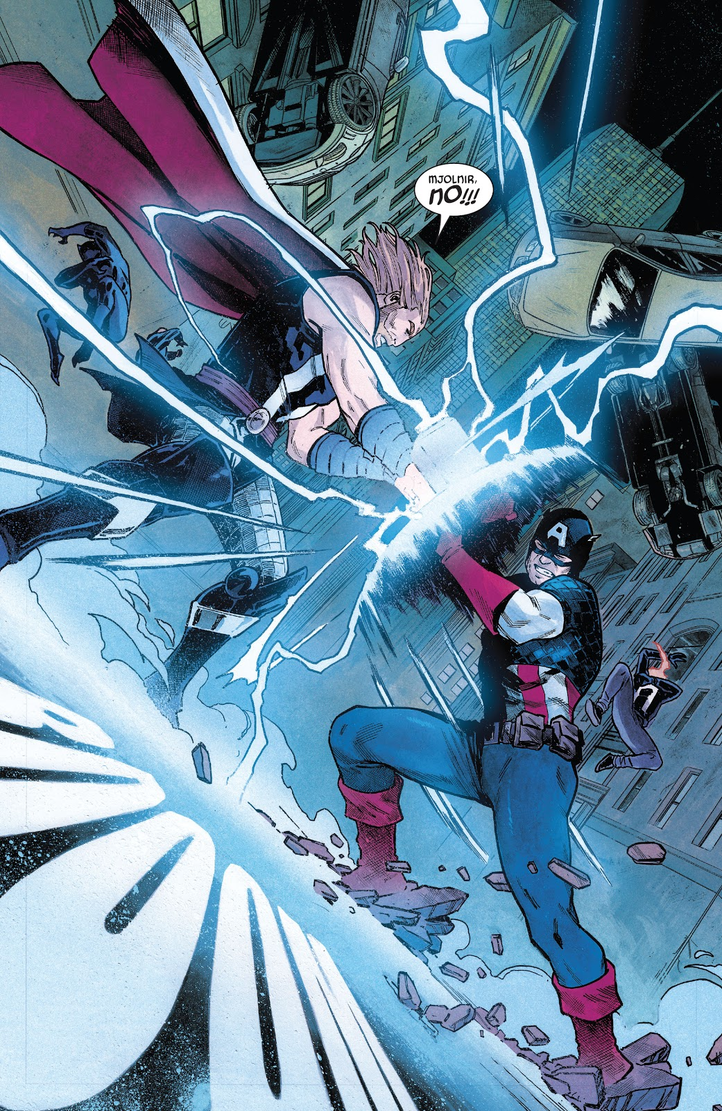 Mjolnir Attacks Captain America