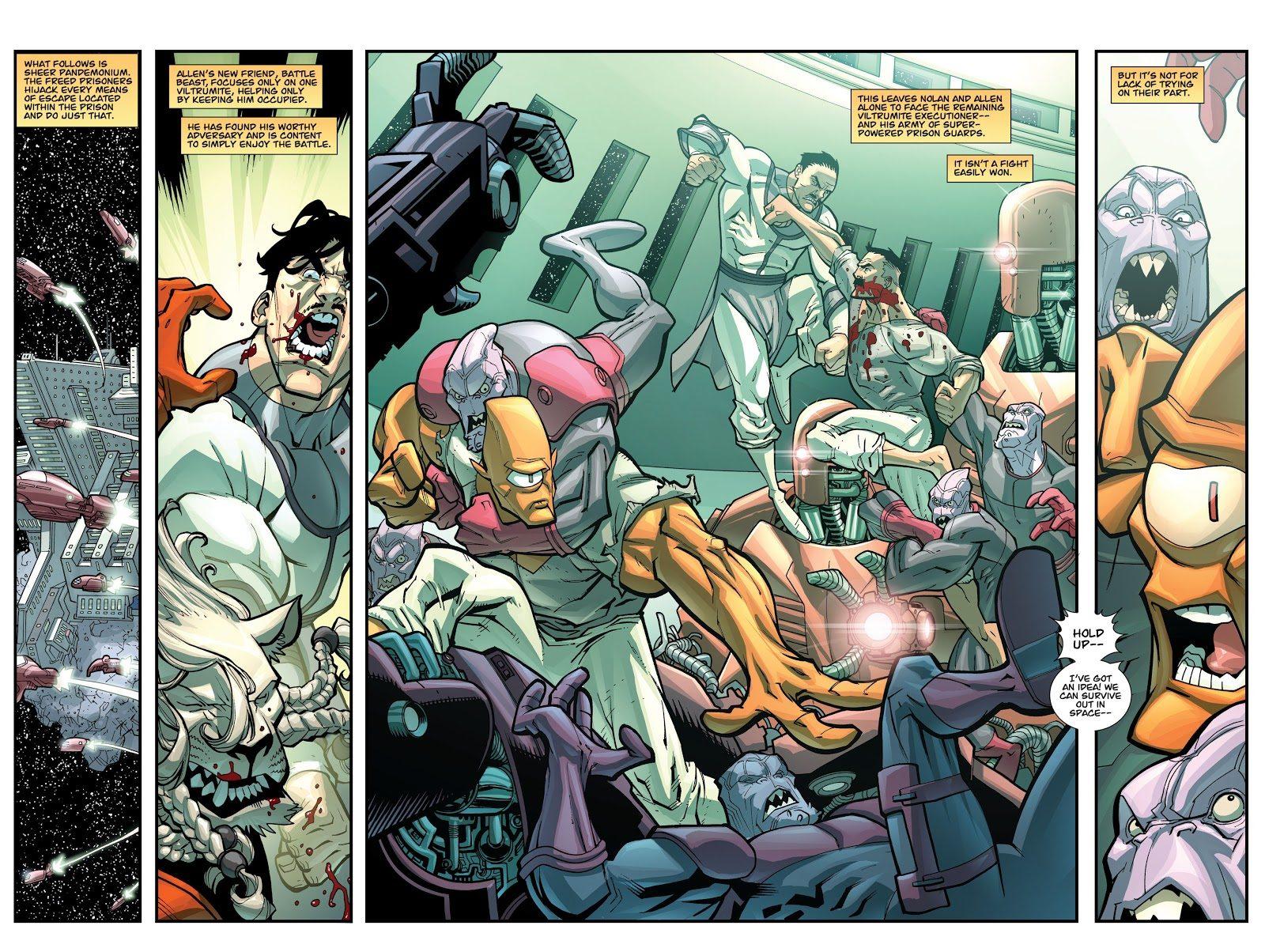 Omni-Man And Allen The Alien Kills A Viltrumite