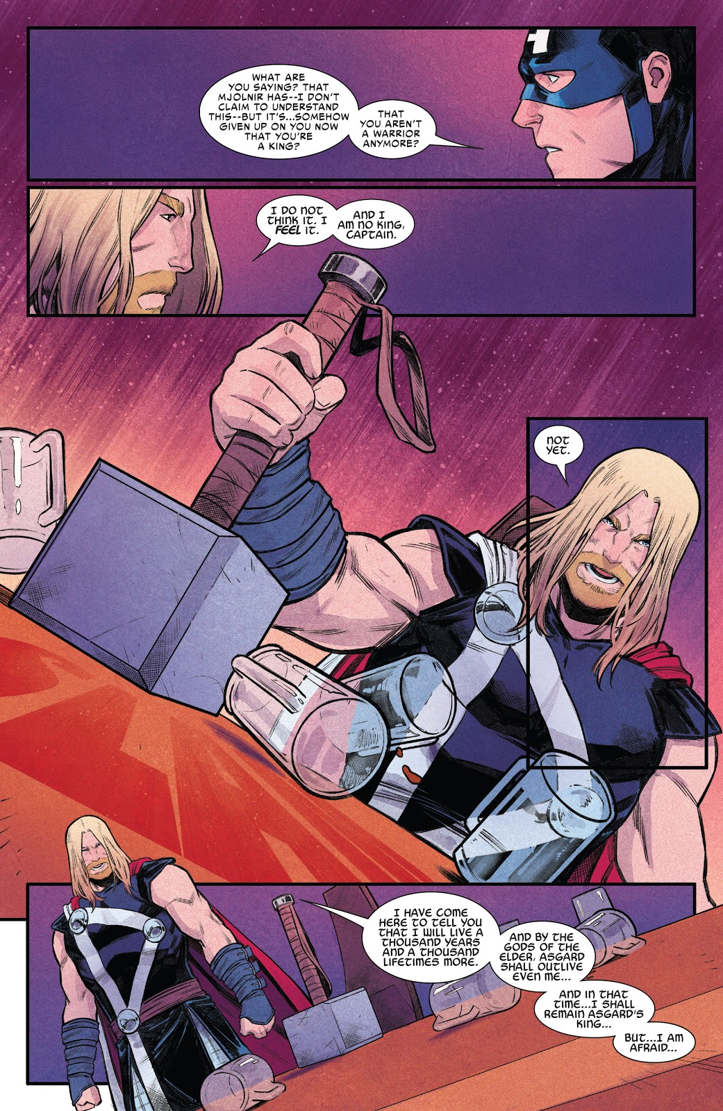 Why King Thor Is Unable To Lift Mjolnir Anymore