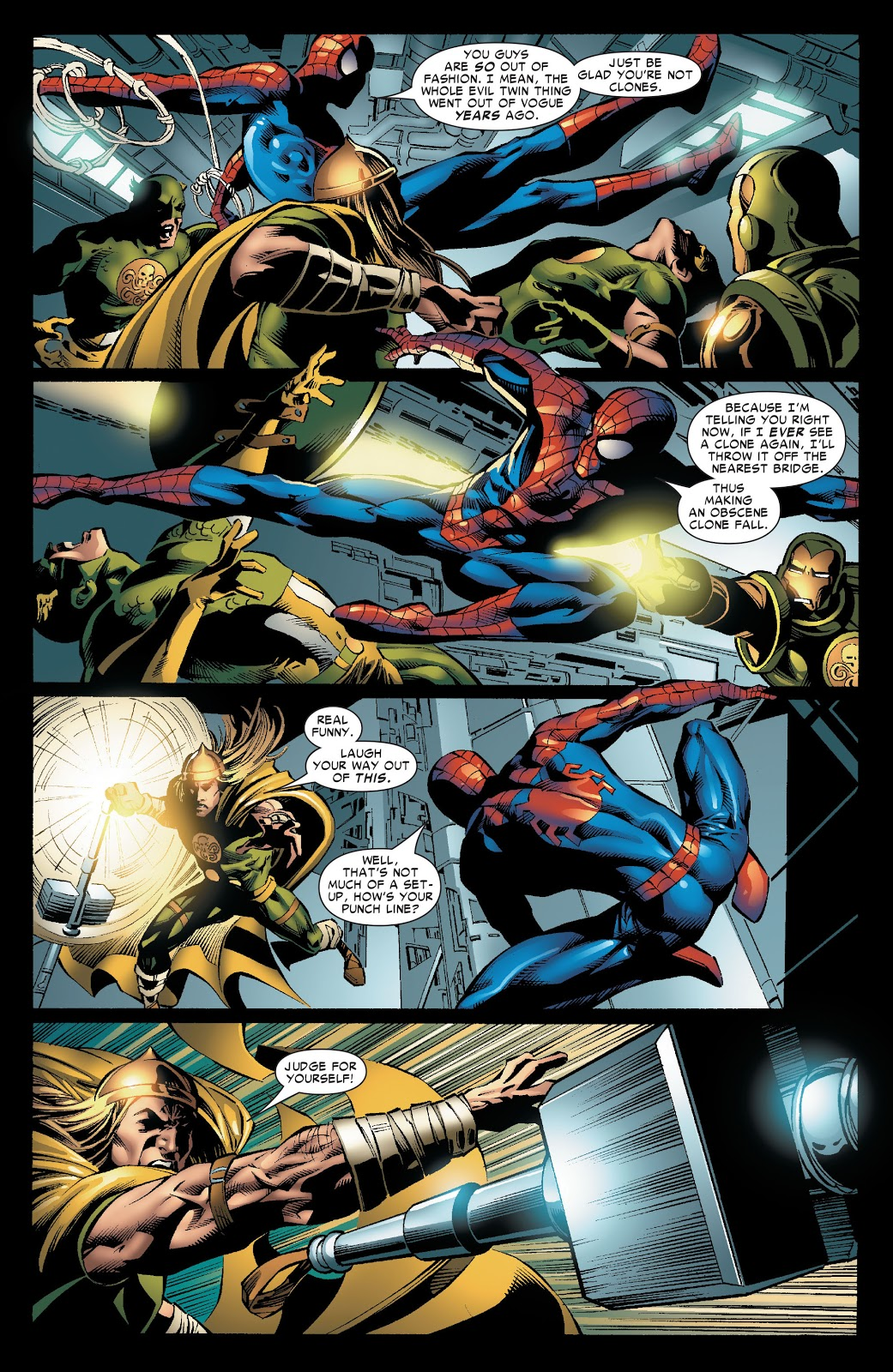 Spider-Man VS The Hydra Four