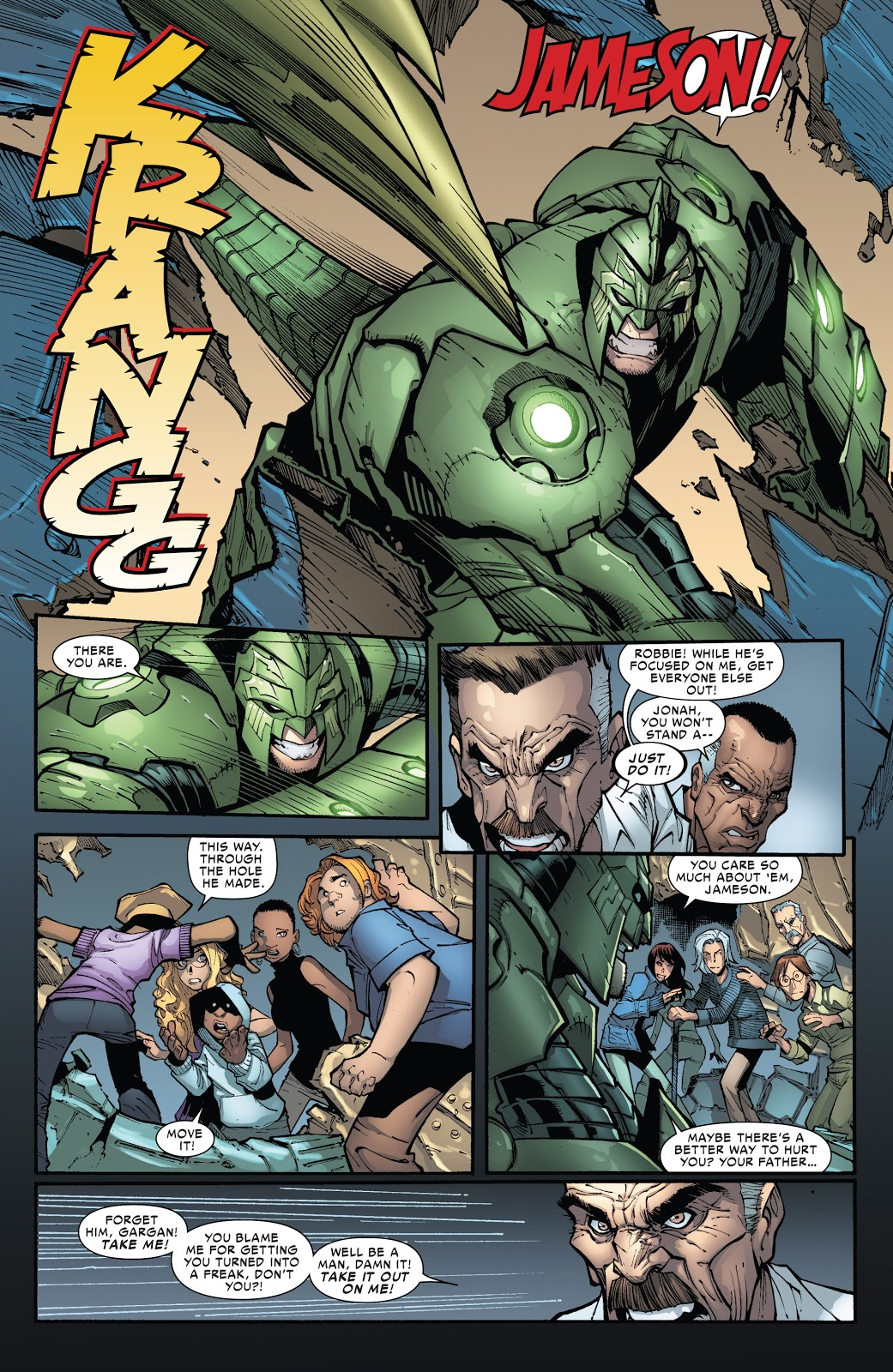 Superior Spider-Man Punches The Scorpion's Jaw Off