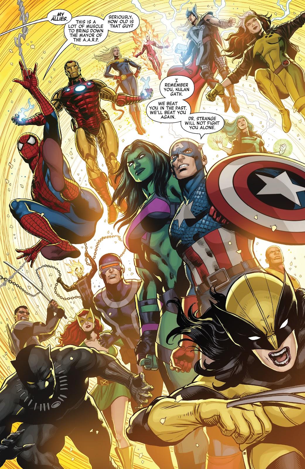 Kulan Gath Kills The Savage Avengers and X-Men